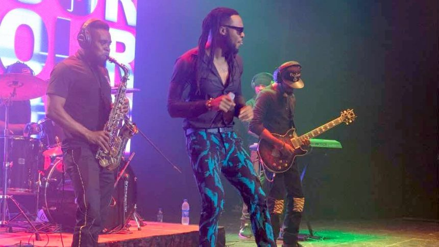 Flavour performing on stage