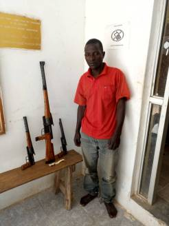 Man arrested with firearms heading to Benue state.
