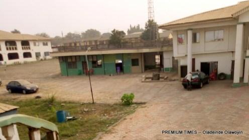 Adedibu's 'palace' (Photo taken by Oladeinde Olawoyin)