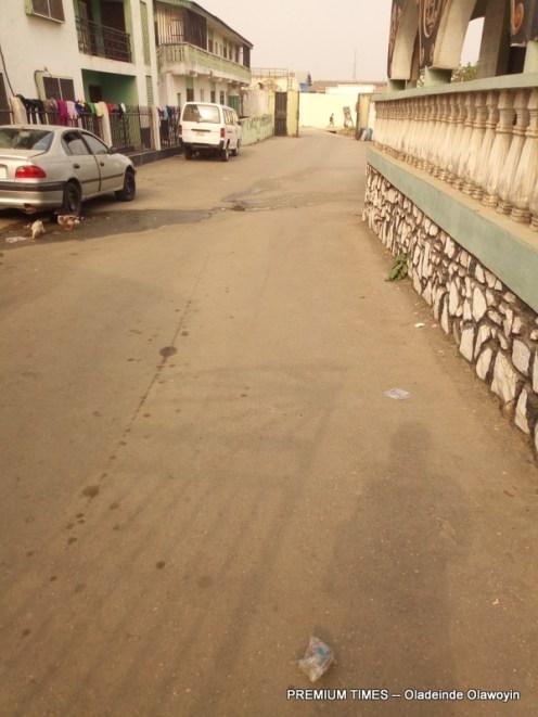 Exit of Adedibu's 'palace' (Photo taken by Oladeinde Olawoyin)