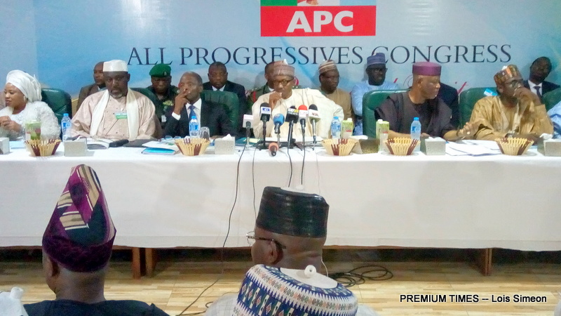 President Buhari at the APC NEC Meeting