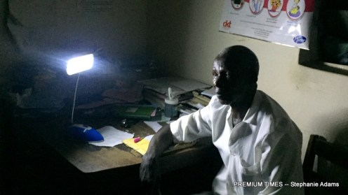 A community health extension worker, Mr. Daniel at the PHC in Akwanga (Photo taken by Stephanie Adams)