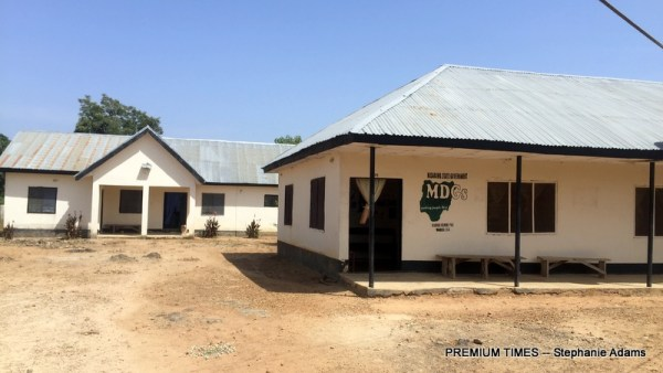 The PHC in Wamba Kurmi (Photo taken by Stephanie Adams)