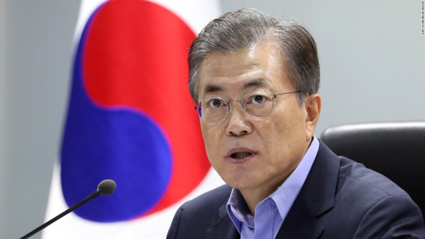 South Korean President Moon Jae-in [Photo credit: CNN]