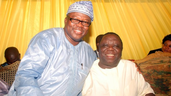 Shola Oshunkeye and Morgan Tsvangirai in Owerri