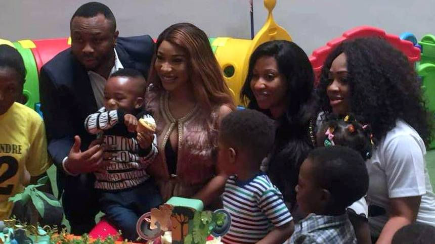 Image result for tonto dikeh churchill and son
