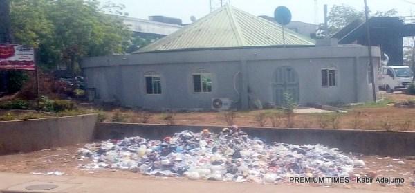 Uncleared refuse litter OAU