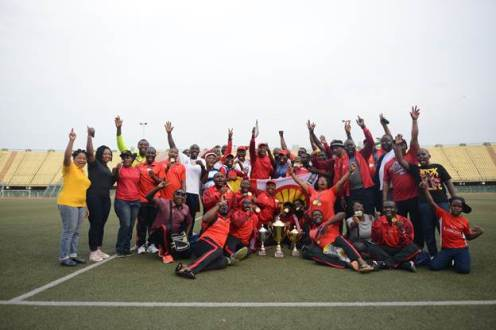 Team Shell celebrating their victory as overall winner of the 2018 Nigeria Oil and Gas Industry Games held in Lagos, last week.