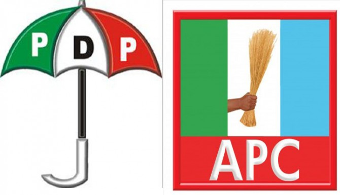 PDP and APC logo used to illustrate the story. [Photo credit:
