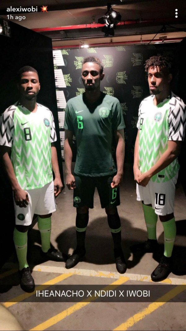 12f1dcccfb2 PHOTOS: New Super Eagles jerseys unveiled ahead of World Cup ...