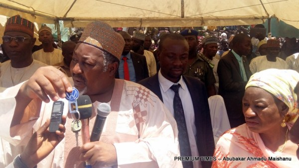 Jigawa State governor, Muhammed Badaru at Birnin Kudu Local Government Area
