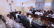Buhari speaking during his trip to Taraba