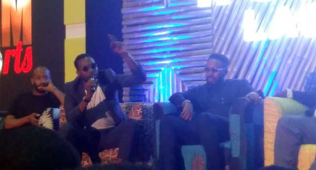 Dbanj speaking at the event
