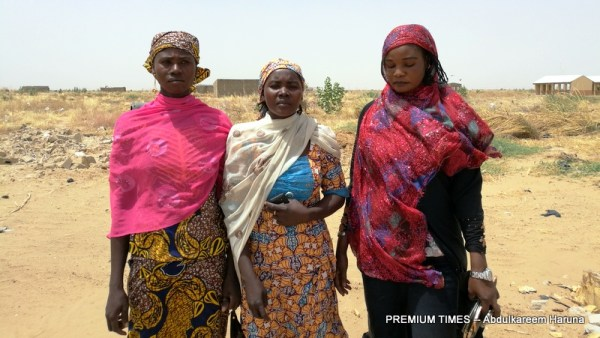 Amina Musa (left) and Nafisat Suleiman and another woman who as also denied a house in Ngwom