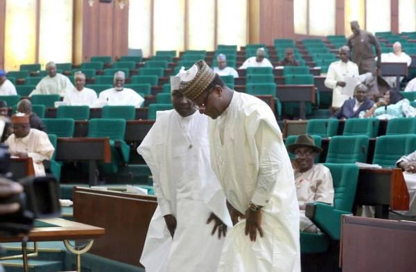 House of Representatives, representing Kiru/Bebeji federal constituency of Kano State, Abdulmumin Jibrin, resuming duties.