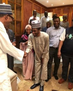 President Buhari welcomes son