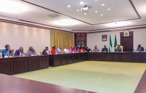 VP Yemi Osinbajo, in a meeting with members of the 'Not too Young To Run'