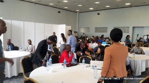 #IFF2018: Participants networking/interacting just before lunch at the Forum.