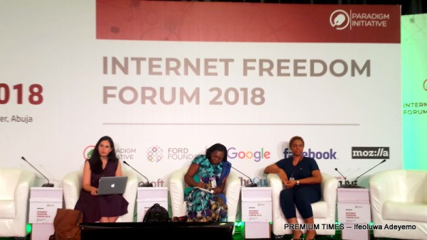 Bridging Gender Knowledge Gap in Wikipedia: Reflections from Nigeria and Egypt. The panel was moderated by Nnenna Nwakanma. Ana Brandusescu and Roseblossom Ozurumba