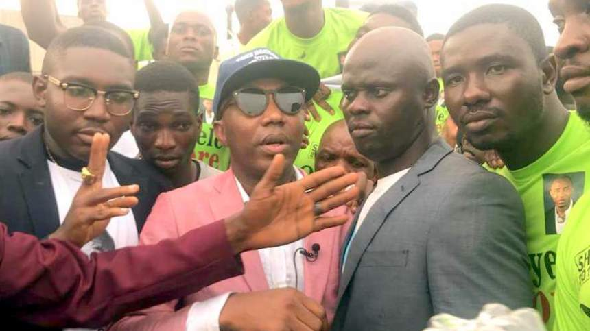 Sowore received by supporters at Lagos airport