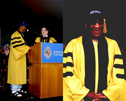 Bill Cosby at Johns Hopkins University's commencement ceremonies in 2004. IMAGE CREDIT- HOMEWOOD PHOTOGRAPHY