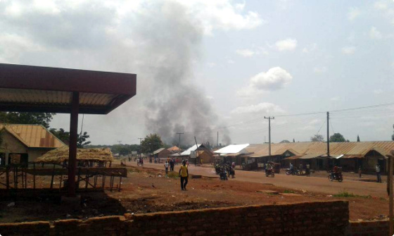 Rampaging soldiers set Benue community on fire