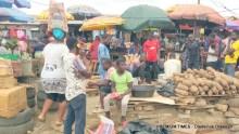 The Araromi Oke-Odo market in Lagos