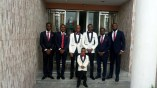 The groom, Kufre Okon, with his best man, Onofiok Luke, and the grooms men (2)