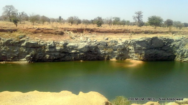 The abandoned earth dam in Danjaka, Bumai Kunchi local government area in Kano state