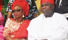 Gov. Ambode and Wife used to illustrate the story.