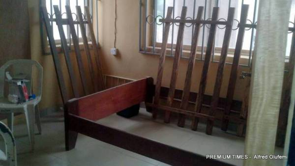 Bed furniture without mattress at Illofa health centre