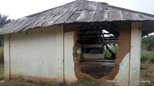Big hole on the wall, Community Sec. Commercial Sch, Nto Edino, Obot Akara