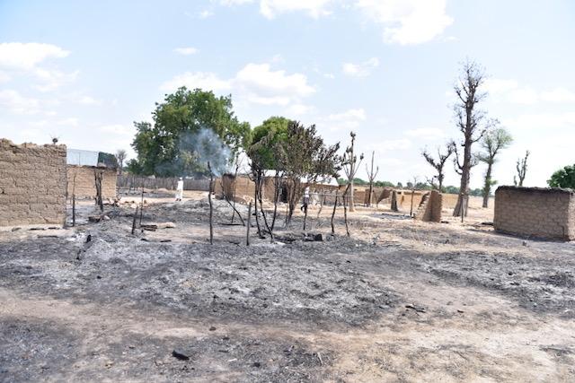 Burnt houses in Birnin Gwari