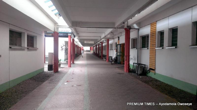 Deserted corridors of the National Hospital