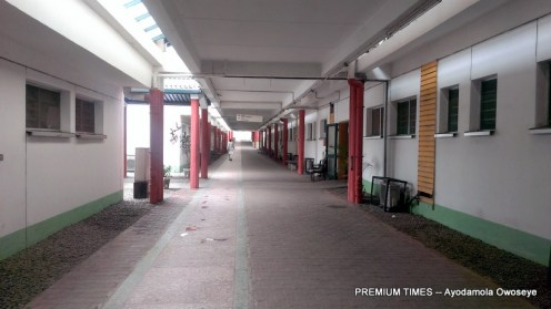 Deserted corridors of the National Hospital