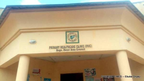 Primary health centre in Kogotu, Bwari Area Council, Abuja.