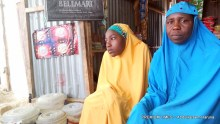Mrs Hamsatu Mustapha and her eldest daughter, Fatima (Photograph: Abdulkareem Haruna)
