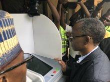 Kaduna State Governor, Nasir El-Rufai at the LG Polls