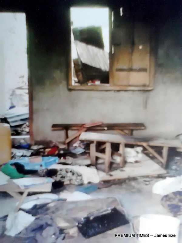 The house was also destroyed by the youths