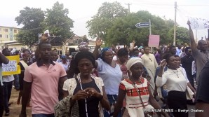 Catholic faithful and other Christians during a peaceful prayerful procession to protest the killing of Catholic Priests and other Christians in Benue State, in Lagos on Tuesday (22/5/17).02696/22/5/2018/Okoya Olatunde/ICE/NAN