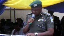 A screenshot of IGP, Ibrahim Idris reading speech