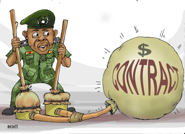 Defence chiefs routinely inflate security contracts with the intention of stealing the excess.
