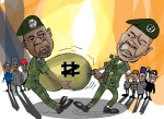Illustration: Two generals fighting over stolen money