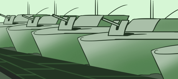 K38 Catamaran assault crafts . Illustrations by Michael Anderson