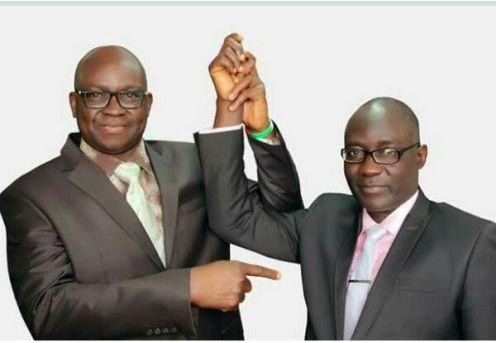 Gov. Ayo Fayose and Dr Kolapo Olusola [Photo: Kolapo Olusola Campaign Facebook Page]