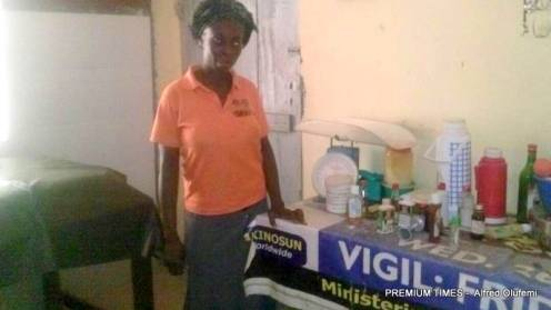 Mrs Janet at the church maternity in Odo-Owa - 1