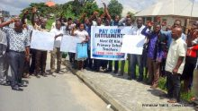 Next of Kin group protesting at the Akwa Ibom State House of Assembly