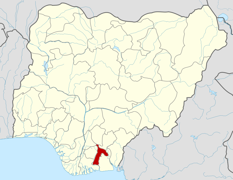 Abia State on map