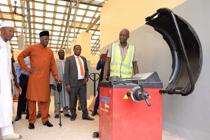 Kwara Governor, Abdulfatah Ahmed at the opening of the International Vocational, Training and Entrepreneurship College (IVTEC), Ajase-Ipo (Photo Credit: thenationpilot)