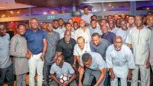 Senate President, Bukola Saraki with the Super Eagles team